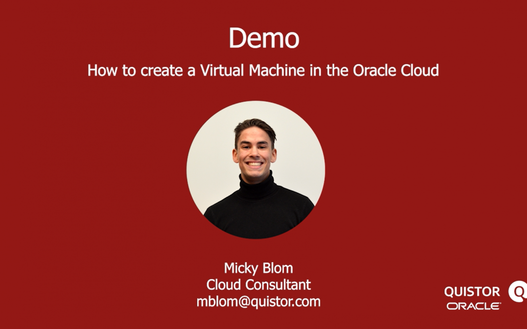 Creating a Virtual Machine Instance in the Oracle Cloud