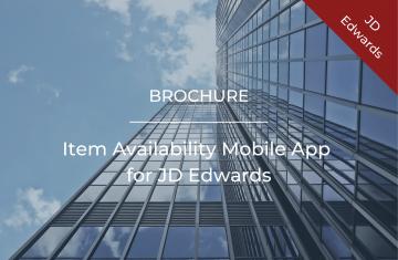 Item Availability Mobile App for JD Edwards
