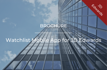 Watchlist Mobile App for JD Edwards