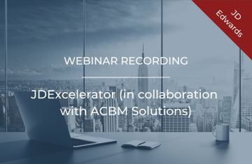 JDExcelerator (in collaboration with ACBM Solutions)