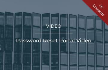 Password Reset Portal Video