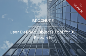 User Defined Objects Tool for JD Edwards