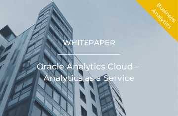 Oracle Analytics Cloud – Analytics as a Service