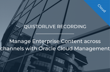 Manage Enterprise Content across channels with Oracle Cloud Management