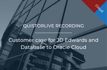 Customer case for JD Edwards and Database to Oracle Cloud
