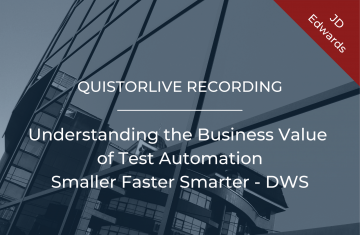 Understanding the Business Value of Test Automation smaller faster smarter - DWS