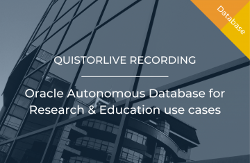 Oracle Autonomous Database for Research and Education use cases