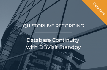 Database Continuity with DBVisit Standby