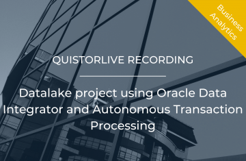 Datalake project using Oracle Data Integrator and Autonomous Transaction Processing