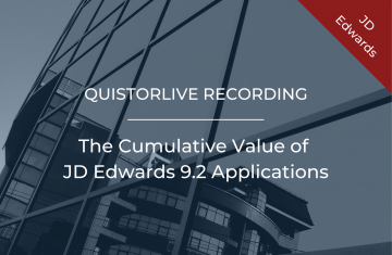 The Cumulative Value of JD Edwards 9.2 Applications