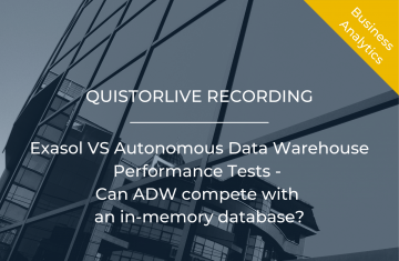 Exasol vs Autonomous Data Warehouse Performance Tests - Can ADW compete with an in-memory database?