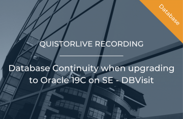 Database Continuity when upgrading to Oracle 19C on SE -DBVisit